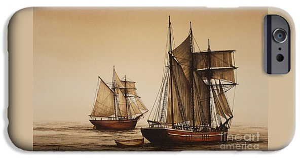 Historic England iPhone Cases - Beauty of Wooden Ships iPhone Case by James Williamson