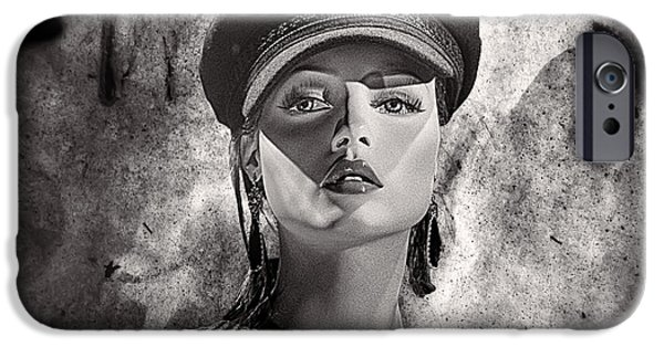 Police Art iPhone Cases - Beauty Police iPhone Case by Chuck Staley