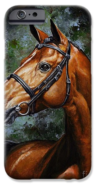 Original Art Mixed Media iPhone Cases - Beauty real iPhone Case by Emerico Imre Toth