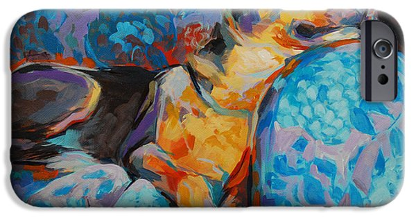 Mixed Breed iPhone Cases - Beauty Rest iPhone Case by Kimberly Santini