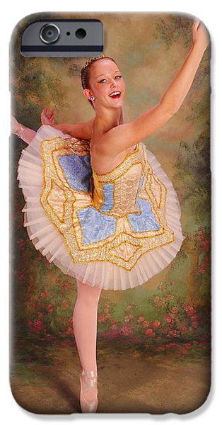 Ballet Dancers iPhone Cases - Beauty The Ballerina iPhone Case by ARTography by Pamela  Smale Williams