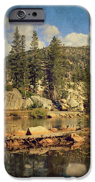 Textured Landscape iPhone Cases - Beauty You Find Along the Way iPhone Case by Laurie Search