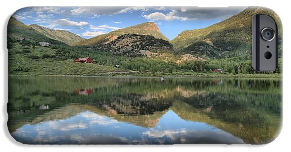 Beaver Lake iPhone Cases - Beaver Lake In Marble Colorado iPhone Case by Adam Jewell