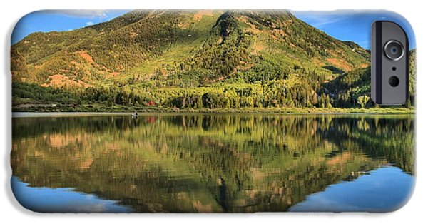 Beaver Lake iPhone Cases - Beaver Lake Reflections iPhone Case by Adam Jewell