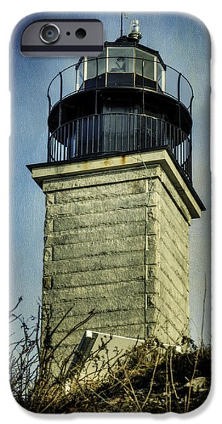 New England Lighthouse iPhone Cases - Beavertail Lighthouse  iPhone Case by Joan Carroll