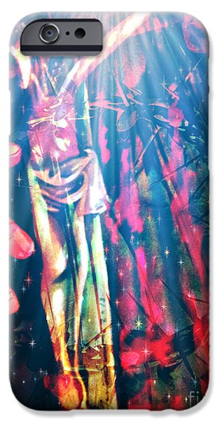 Yesayah Mixed Media iPhone Cases - Because He Lives iPhone Case by Fania Simon