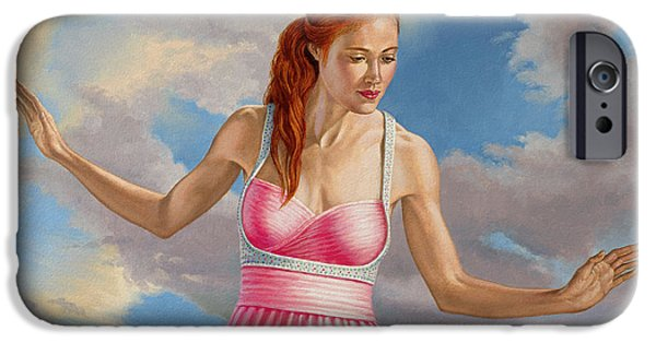 Figures iPhone Cases - Becca in Pink iPhone Case by Paul Krapf