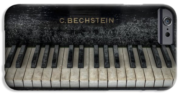 Haunted House Digital Art iPhone Cases - Bechstein Keys iPhone Case by Nathan Wright