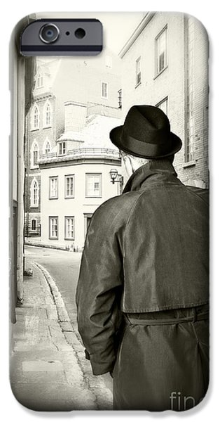 Detectives iPhone Cases - Beckoning iPhone Case by Edward Fielding