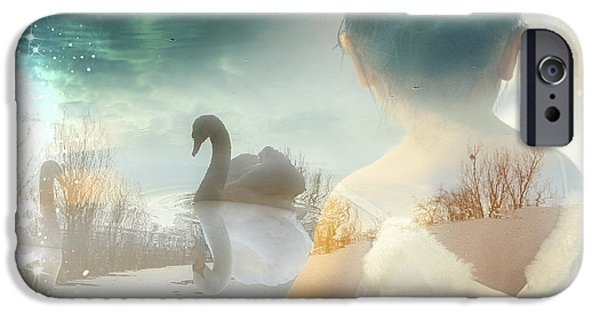 Ballet Dancers iPhone Cases - Becoming a Swan iPhone Case by Mo T