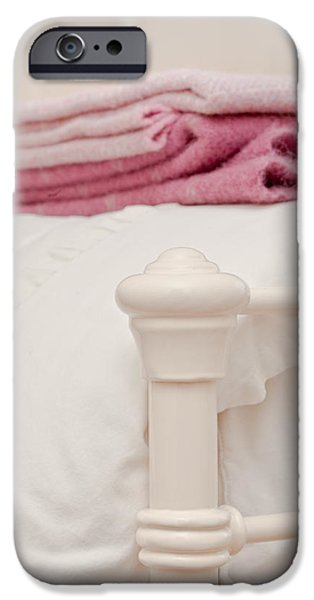 Bed Linens iPhone Cases - Bed post iPhone Case by Tom Gowanlock