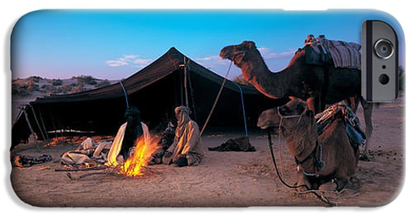Bedouin iPhone Cases - Bedouin Camp, Tunisia, Africa iPhone Case by Panoramic Images