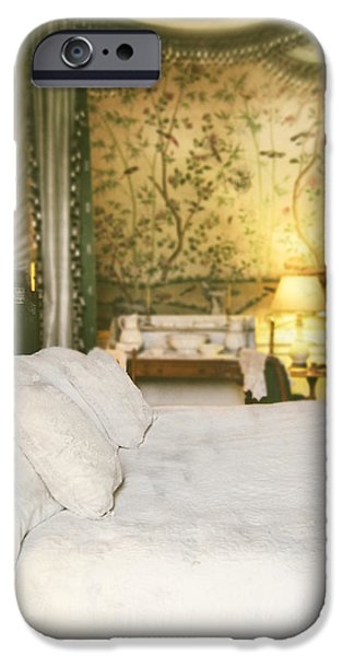 Bed Linens iPhone Cases - Bedroom iPhone Case by Amanda And Christopher Elwell