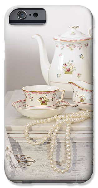 Morning iPhone Cases - Bedside Table For Tea iPhone Case by Amanda And Christopher Elwell