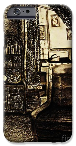 Furniture iPhone Cases - Bedsit Refuge iPhone Case by Leanne Seymour