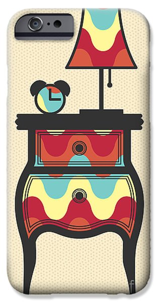 Night Lamp iPhone Cases - Bedtime story iPhone Case by Freshinkstain