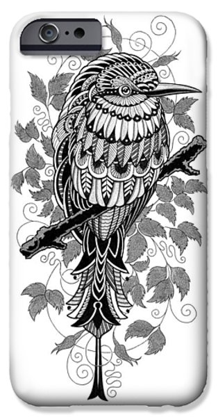 Artwork Drawings iPhone Cases - Bee Eater iPhone Case by BioWorkZ