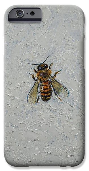 Bee iPhone Cases - Bee iPhone Case by Michael Creese