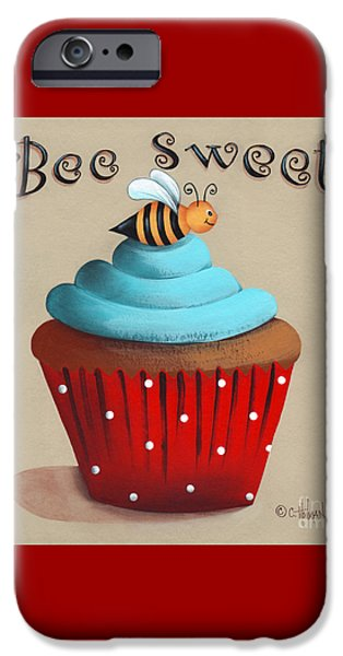 Bee Sweet Cupcake iPhone Case by Catherine Holman