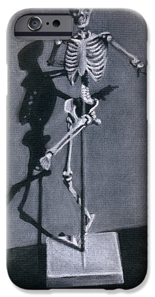Skeleton Drawings iPhone Cases - Beelzebub iPhone Case by Kd Neeley