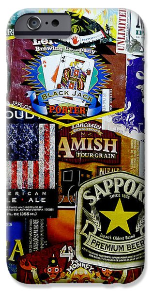 Beer Labels iPhone Case by Richard Reeve