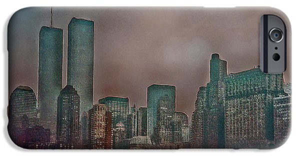 Twin Towers Nyc Digital iPhone Cases - Before iPhone Case by Hanny Heim