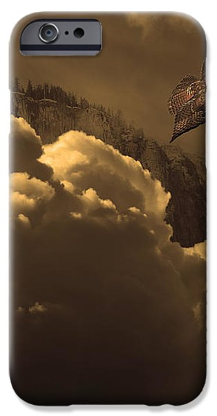 Before Memory . I Have Soared With The Hawk iPhone Case by Wingsdomain Art and Photography