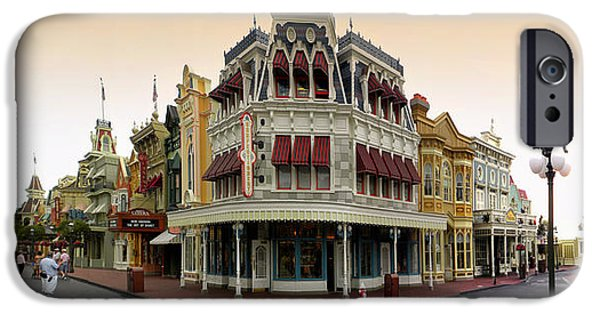 Casey Digital iPhone Cases - Before The Gates Open Magic Kingdom Main Street. iPhone Case by Thomas Woolworth