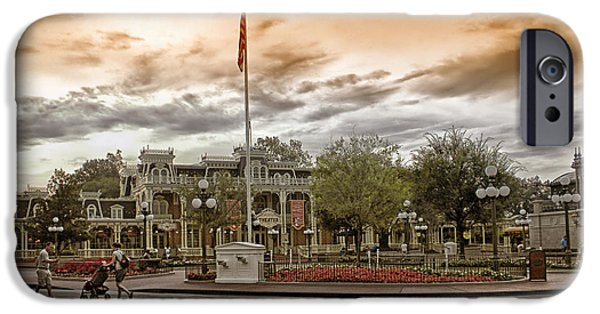 Casey Digital iPhone Cases - Before The Gates Open Magic Kingdom iPhone Case by Thomas Woolworth