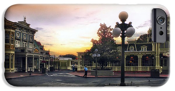 Casey Digital iPhone Cases - Before The Gates Open Magic Kingdom Walt Disney World iPhone Case by Thomas Woolworth