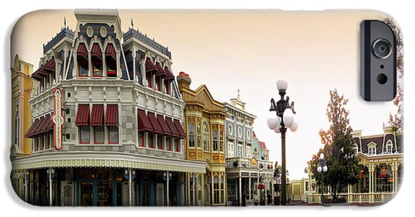 Casey Digital iPhone Cases - Before The Gates Open Main Street Magic Kingdom iPhone Case by Thomas Woolworth
