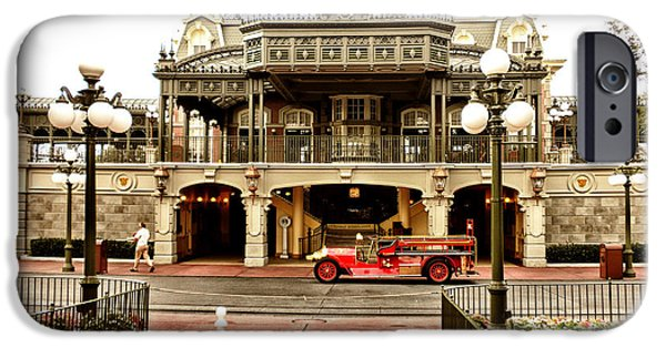 Casey Digital iPhone Cases - Before The Gates Open The Magic Kingdom Train Station iPhone Case by Thomas Woolworth