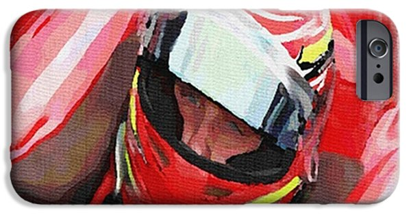 Indy Car Mixed Media iPhone Cases - Before The Green Flag iPhone Case by Dennis Buckman