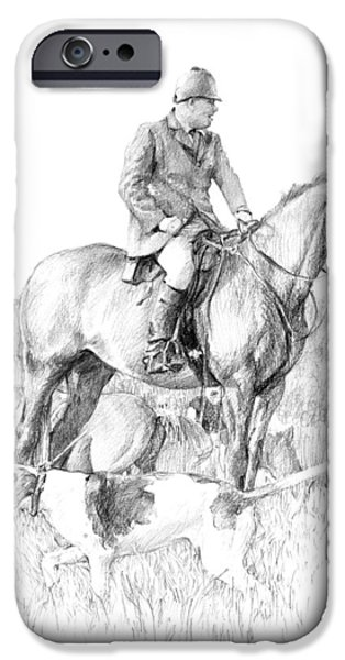 The Horse iPhone Cases - Before the Hunt iPhone Case by Debra Jones