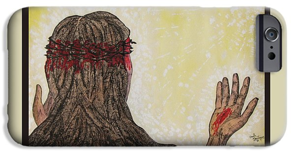 Crucifixtion iPhone Cases - Before the Mercy Seat iPhone Case by Kevin Montague