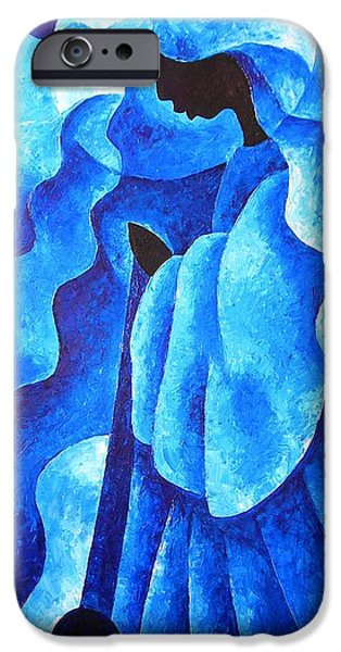 Angel Blues iPhone Cases - Before the Song iPhone Case by Patricia Brintle
