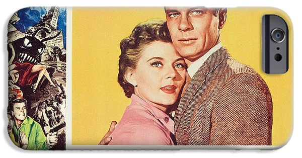 1950s Movies iPhone Cases - Beginning of the End 1957 iPhone Case by Mountain Dreams