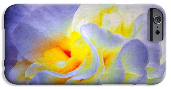 Sun Shade iPhone Cases - Begonia Shadows II Painting iPhone Case by Lianne Schneider