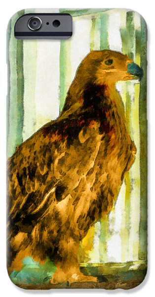 Prison Paintings iPhone Cases - Behind bars iPhone Case by George Rossidis