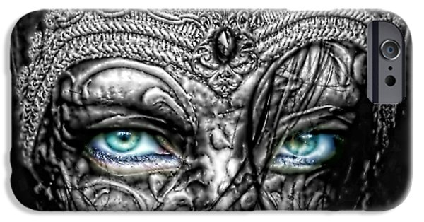 Mo T iPhone Cases - Behind Blue Eyes iPhone Case by Mo T