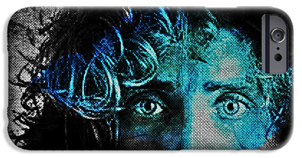 Inner Self Digital Art iPhone Cases - Behind Blue Eyes - The Who iPhone Case by Absinthe Art By Michelle LeAnn Scott