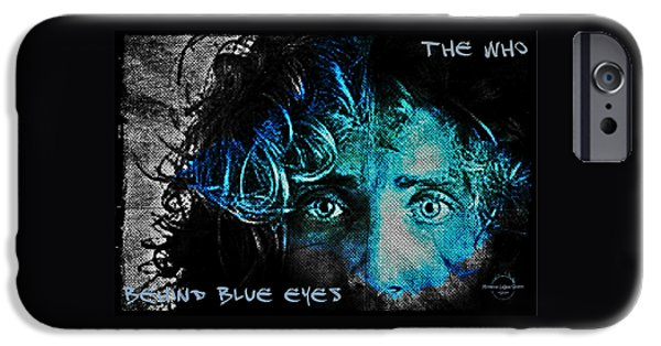 Recently Sold -  - Gray Hair iPhone Cases - Behind Blue Eyes - The Who iPhone Case by Absinthe Art By Michelle LeAnn Scott