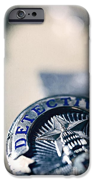 Police Patrol Law Enforcement iPhone Cases - Behind the Badge iPhone Case by Trish Mistric