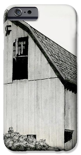 Behind The Barn iPhone Case by Todd Spaur