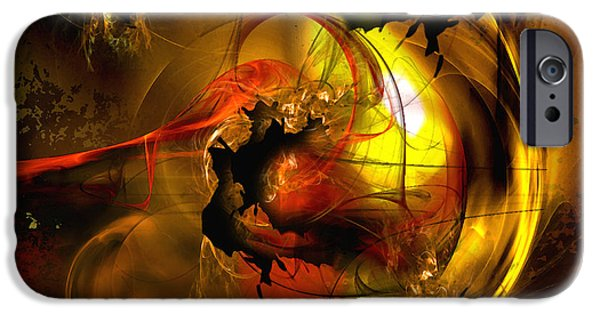 """digital Abstract"" iPhone Cases - Behind the Curtain iPhone Case by Franziskus Pfleghart"
