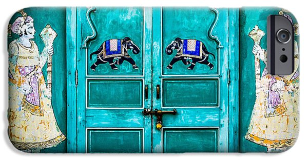 Harem Photographs iPhone Cases - Behind the green door iPhone Case by Catherine Arnas