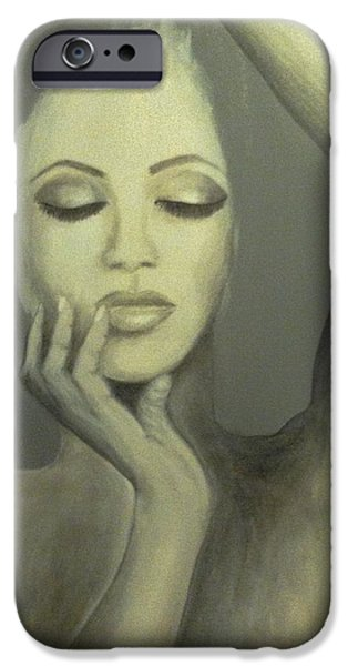 Behind The Mask iPhone Case by Marina Hanson