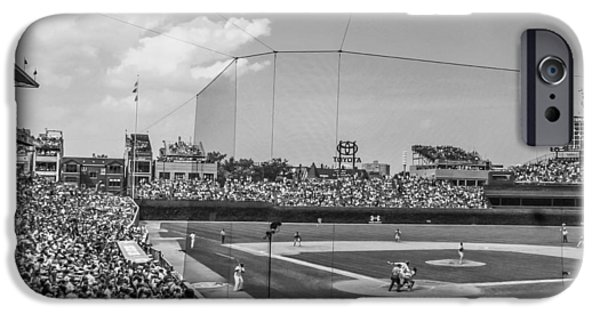 Wrigley iPhone Cases - Behind the plate in Wrigley iPhone Case by John McGraw