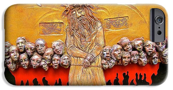 Religious Ceramics iPhone Cases - Behold the Man iPhone Case by Gary Wilson