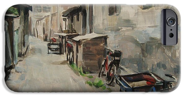 Beijing iPhone Cases - Beijing Hutong iPhone Case by Annie Salness